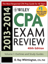 Wiley CPA Examination Review 2013-2014, Outlines and Study Guides (eBook)